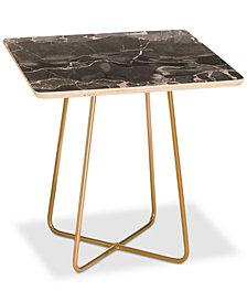 Deny Designs Emanuela Carratoni Grey Square Side Table