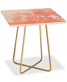 Deny Designs Emanuela Carratoni Pink Square Side Table