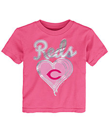 Outerstuff Cincinnati Reds Unfoiled Love T-Shirt, Toddler Girls (2T-4T)