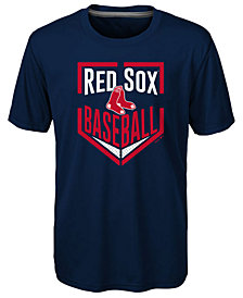 Outerstuff Boston Red Sox Run Scored Poly T-Shirt, Big Boys (8-20)