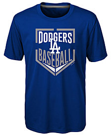 Outerstuff Los Angeles Dodgers Run Scored Poly T-Shirt, Big Boys (8-20)