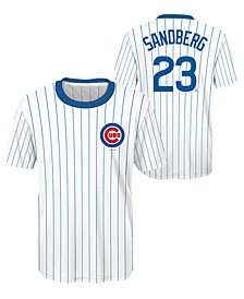 Outerstuff Ryne Sandberg Chicago Cubs Coop Poly Player T-Shirt, Big Boys (8-20)