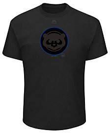 Majestic Men's Chicago Cubs Pitch Black Focus T-Shirt