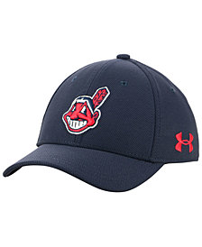Under Armour Boys' Cleveland Indians Adjustable Blitzing Cap
