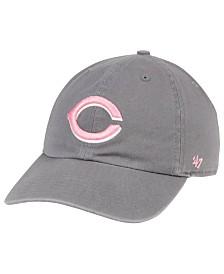 '47 Brand Cincinnati Reds Dark Gray Pink CLEAN UP Cap