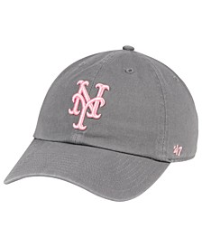 New York Mets Dark Gray Pink CLEAN UP Cap