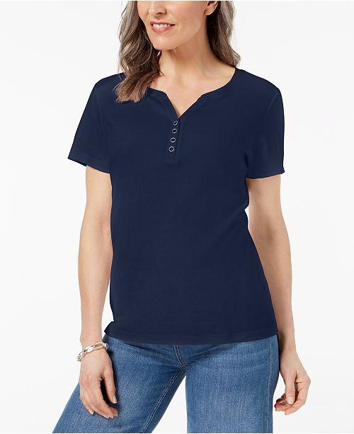 6da712badba3d ... Karen Scott Henley T-Shirt