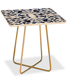 Deny Designs Jacqueline Maldonado Cosmic Connections Blue Square Side Table
