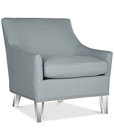 Kreter Club Chair with Nailhead Trim, Quick Ship