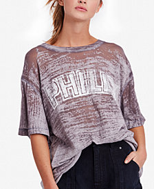 Free People For The Boys Vintage-Style T-Shirt