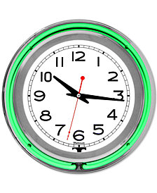 "Double Ring 14"" Neon Clock"