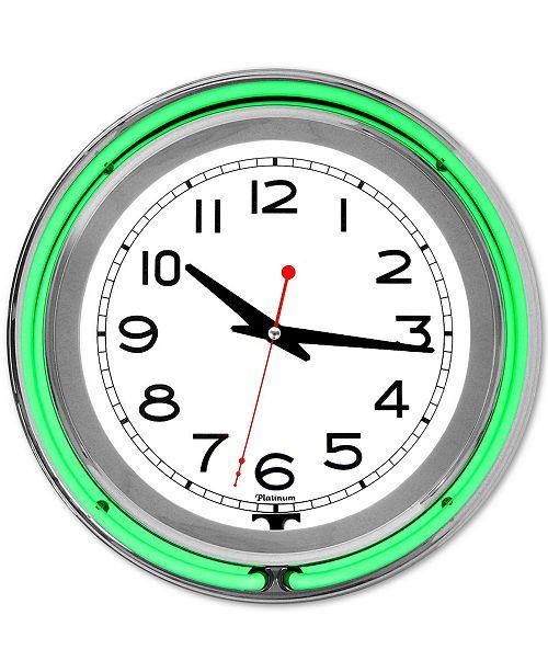 "Trademark Global Double Ring 14"" Neon Clock"