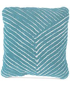 "Modern Geometric Diagonal Stripe 18"" Decorative Throw Pillow"