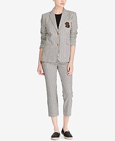 Lauren Ralph Lauren Monogram Blazer & Seersucker Pants