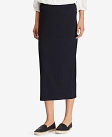 Lauren Ralph Lauren Striped Stretch Midi Skirt