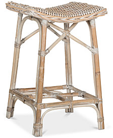 Cottle Wicker Bar Stool, Quick Ship