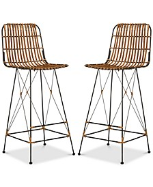 Guldin Wicker Stool (Set Of 2)
