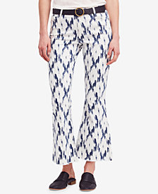 Free People Printed Flare-Leg Jeans