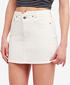 Free People She's All That Denim Mini Skirt