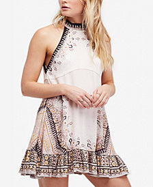 Free People Steal The Sun Printed Halter Dress