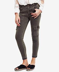 Free People Released-Hem Utility Skinny Jeans