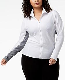Calvin Klein Performance Plus Size Honeycomb Mesh Jacket