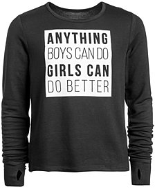 Ideology Big Girls Plus Graphic-Print Sweatshirt, Created for Macy's