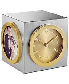 Workplace Two-Tone Aluminum Desk Clock