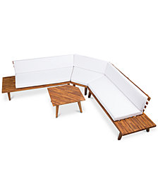 Lucca 4-Pc. Outdoor Sectional Sofa Set, Quick Ship