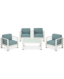 San Pico 5-Pc. Outdoor Chat Set, Quick Ship