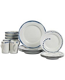Isla 16-Pc. Dinnerware Set, Service for 4