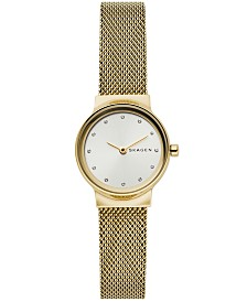 Skagen Women's Freja Gold-Tone Stainless Steel Mesh Bracelet Watch 26mm
