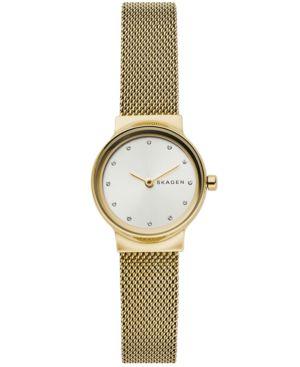 Women'S Freja Gold-Tone Stainless Steel Mesh Bracelet Watch 26Mm