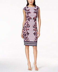 Vince Camuto Floral-Print Sheath Dress