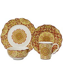 222 Fifth Lyria Saffron 16-Pc. Dinnerware Set, Service for 4