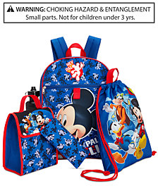 Disney's® Mickey Mouse Little & Big Boys 5-Pc.  Backpack & Accessories Set