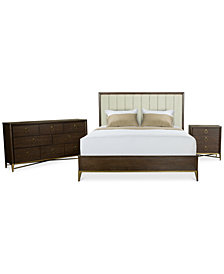 Ethan Upholstered Bedroom Furniture, 3-Pc. Set (King Bed, Nightstand & Dresser), Created for Macy's