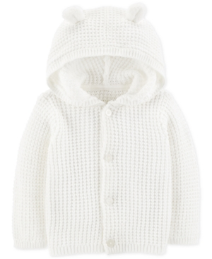 Carters Baby Boys or Girls Hooded Cardigan Sweater