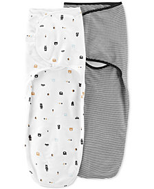 Carter's Baby Boys 2-Pack Cotton Swaddle Blankets