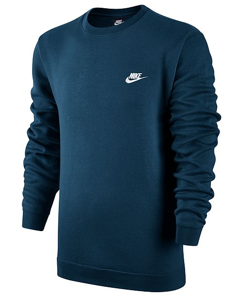 6d8f733c Nike Men's Crewneck Fleece Sweatshirt; Nike Men's Crewneck Fleece Sweatshirt  ...