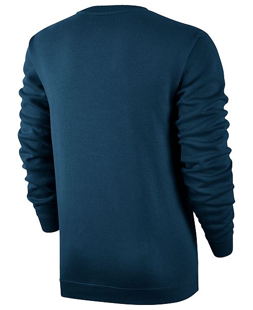 f036216e2f83 Nike Men s Crewneck Fleece Sweatshirt   Reviews - Hoodies ...