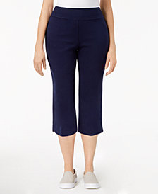 Alfred Dunner Petite Cropped Pull-On Pants