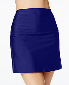 Island Escape La Palma High-Waist Swim Skirt, Created for Macy's