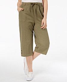 Karen Scott Cotton Pull-On Capri Pants, Created for Macy's
