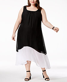 Love Squared Trendy Plus Size Colorblocked Maxi Dress