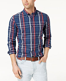 Tommy Hilfiger Men's Cusack Plaid Classic Fit Shirt, Created for Macy's