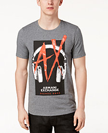 A|X Armani Exchange Men's Graphic-Print Stretch T-Shirt