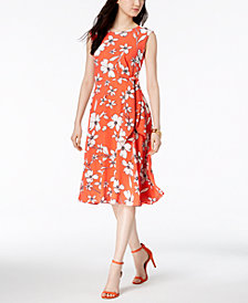 Jessica Howard Floral-Print A-Line Midi Dress