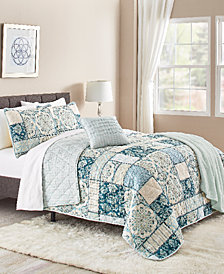 Tricia 5-Pc. Reversible Full/Queen Quilt Set