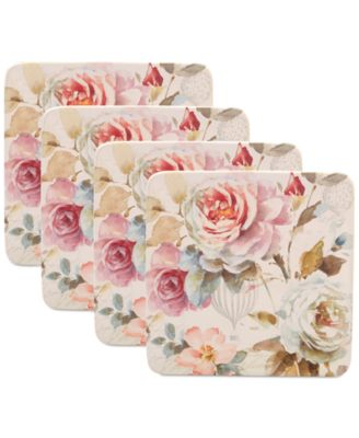 Beautiful Romance Salad Plates, Set of 4